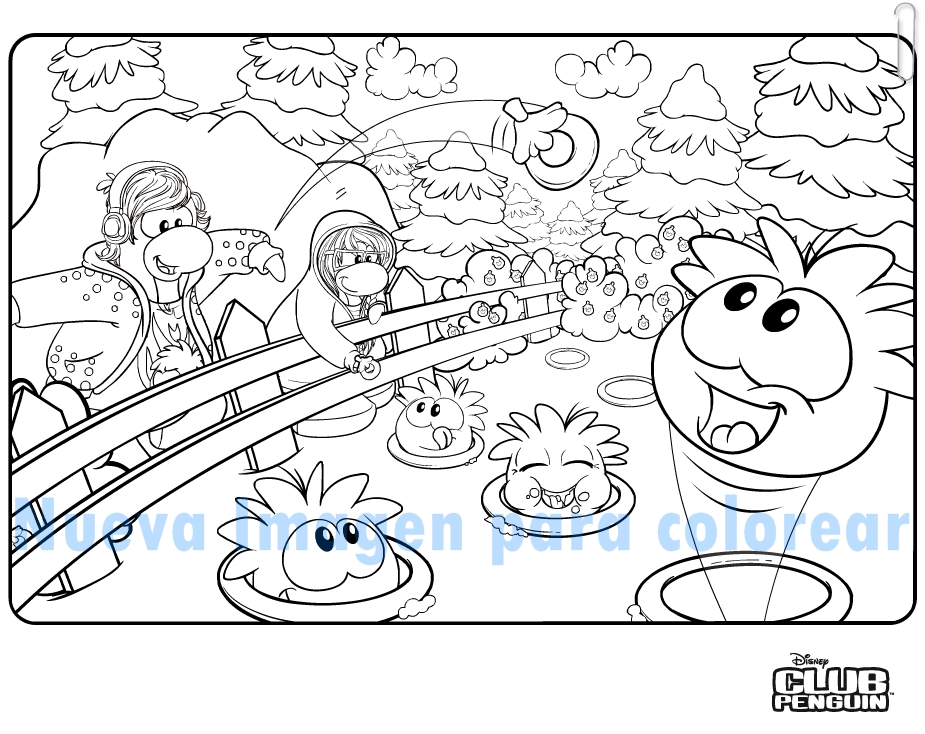 Nueva imagen para colorera club penguin sue os for Club penguin coloring page