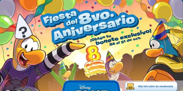 Club Penguin 8° Aniversario