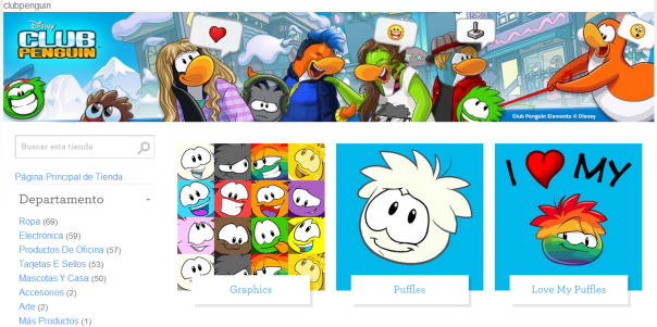 club penguin zazzle linea de articulos