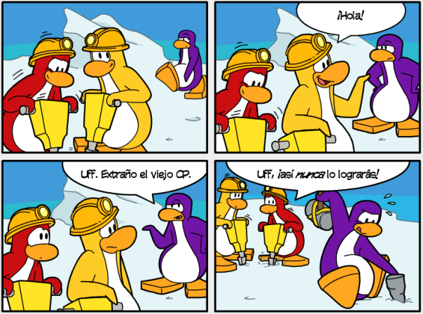 diario de club penguin edicion #429 comic viaje a la prehistoria