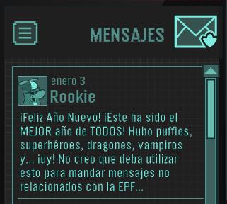 mensaje de rookie 3 de enero 2014