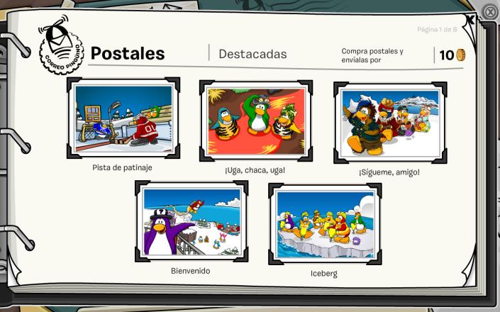postales de club penguin viaje a la prehistoria 2014